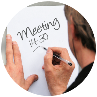 You need an agenda for your meeting rooms